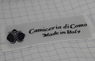 Etichetta Camicieria di Como