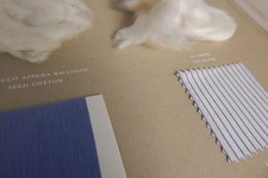 Esempio di cotone trasformato in stoffa