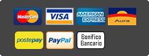 pagamento con le principali carte di credito