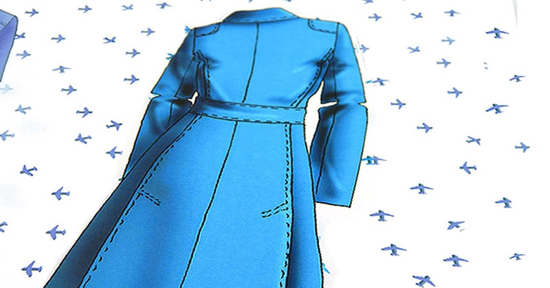 Bozzetto stilista giacca blu